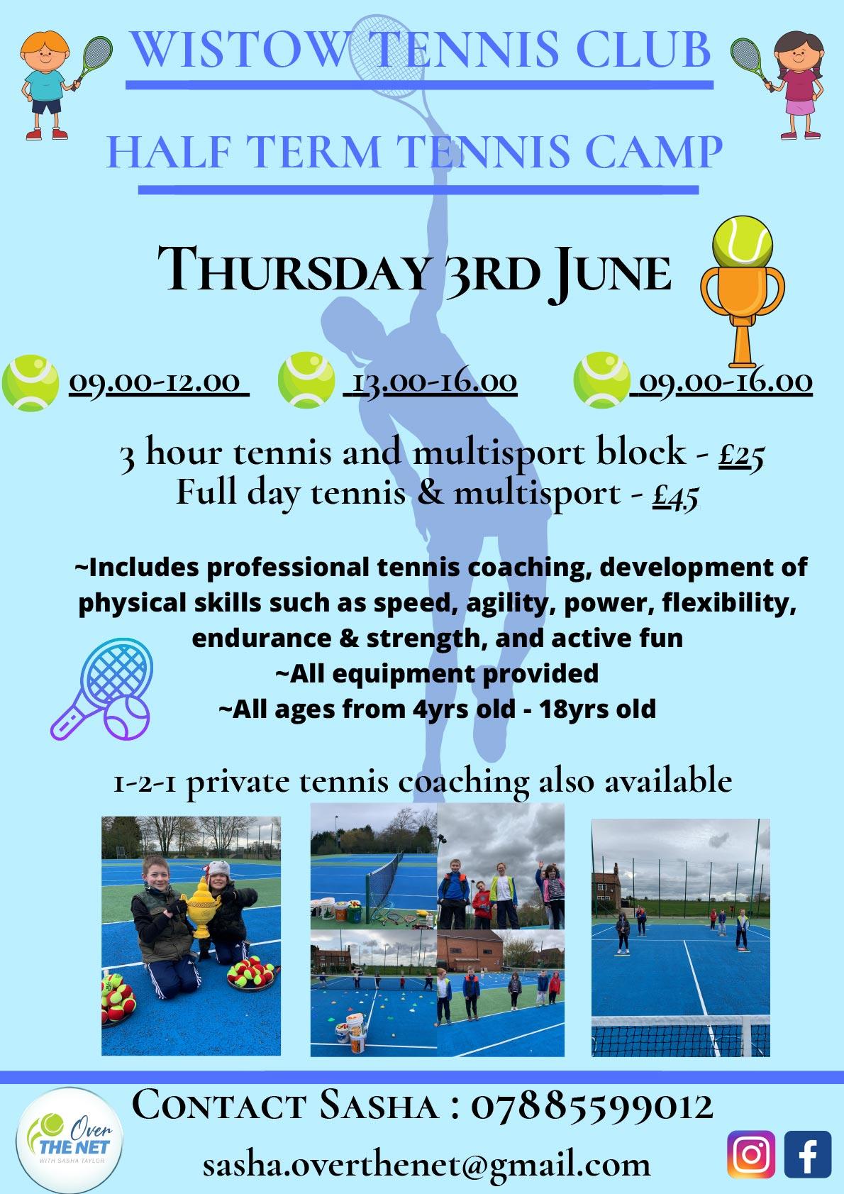 Tennis coaching for kids